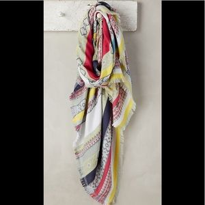 NWT Anthropology Striped Jacquard Scarf